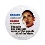 anti-Obama Fool the People Ornament (Round)