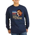 anti-Obama Fool the People Long Sleeve Dark T-Shir