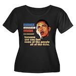 anti-Obama Fool the People Women's Plus Size Scoop