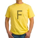 F Yellow T-Shirt