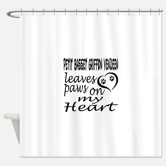 Petit Basset Griffon Vendeen Dog Le Shower Curtain