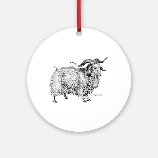 Angora Goat Keepsake (Round)
