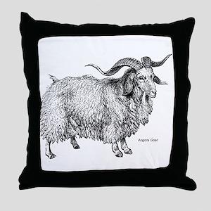 Angora Goat Throw Pillow
