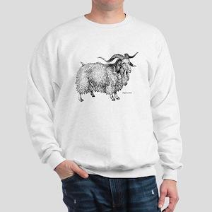 Angora Goat (Front) Sweatshirt