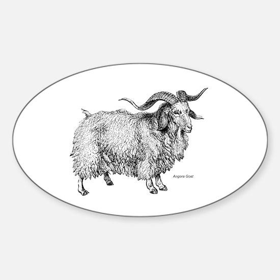 Angora Goat Oval Decal