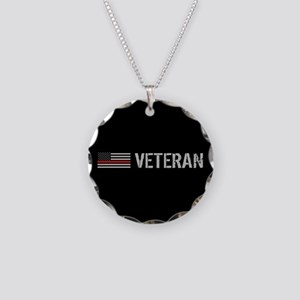 Firefighter: Veteran (Thin R Necklace Circle Charm