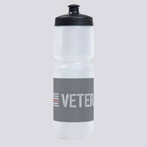 Firefighter: Veteran (Thin Red Line) Sports Bottle