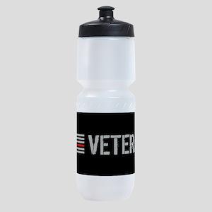 Firefighter: Veteran (Thin Red Line) Sports Bottle