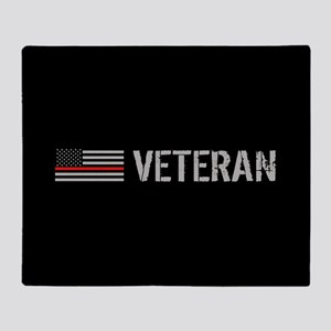 Firefighter: Veteran (Thin Red Line) Throw Blanket