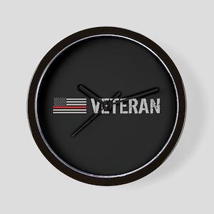 Firefighter: Veteran (Thin Red Line) Wall Clock