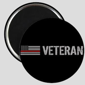 Firefighter: Veteran (Thin Red Line) Magnet