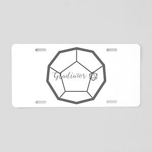 Gladiator Aluminum License Plate