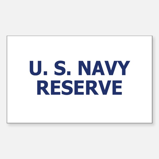 Naval Reserve <BR>Rectangle Decal