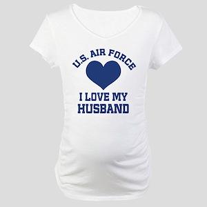 U.S. Air Force Wife Love Husband Maternity T-Shirt
