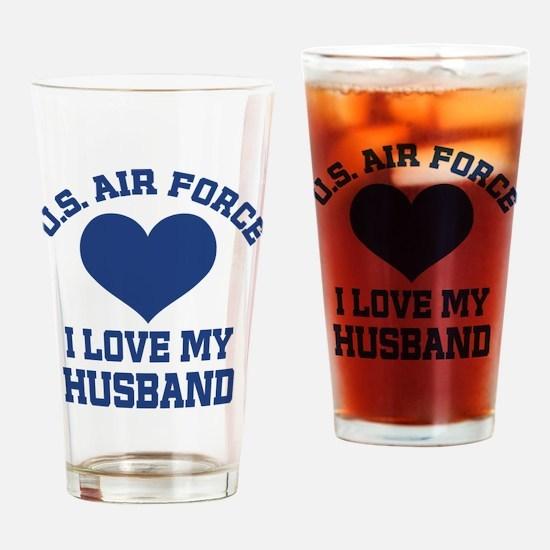 U.S. Air Force Wife Love Husband Drinking Glass