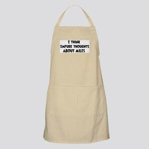 Miles (impure thoughts} BBQ Apron