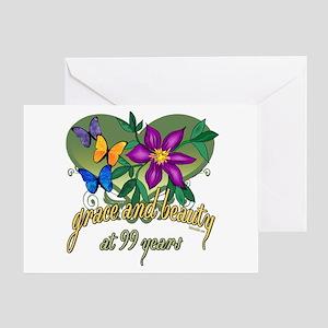 99th birthday greeting cards cafepress beautiful 99th greeting card m4hsunfo