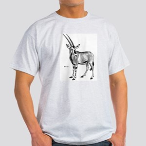 Beisa Oryx (Front) Ash Grey T-Shirt