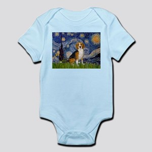 Starry Night & Beagle Infant Bodysuit