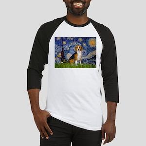 Starry Night & Beagle Baseball Jersey