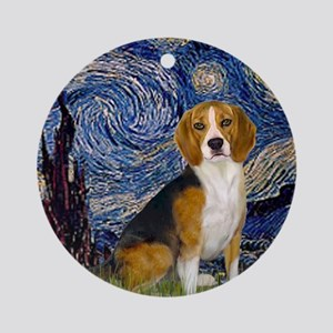Starry Night & Beagle Ornament (Round)