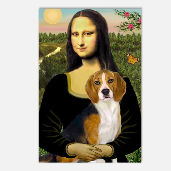 Mona Lisa & Beagle Postcards (Package of 8)