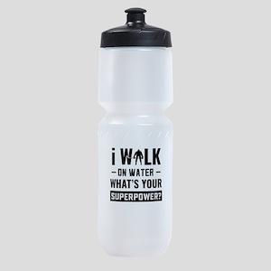Hockey Player Gifts - Walk On Water Sports Bottle