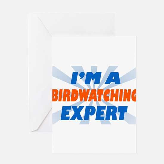 Funny Loves bird watching Greeting Card