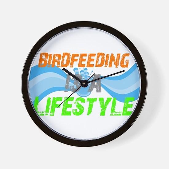 Unique Feeding Wall Clock