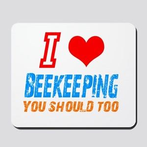 I love beekeeping Mousepad