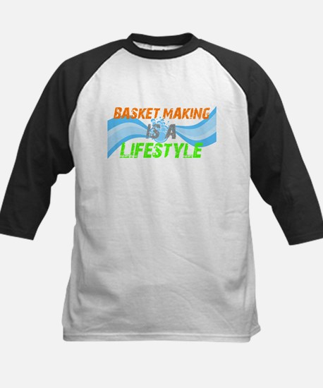 Basket making is a liefstyle Kids Baseball Jersey