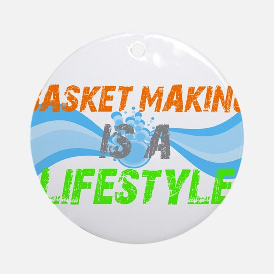 Basket making is a liefstyle Ornament (Round)