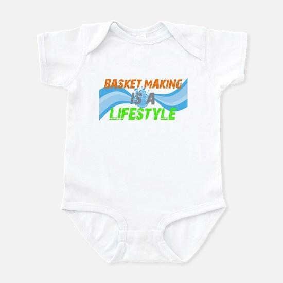 Basket making is a liefstyle Infant Bodysuit