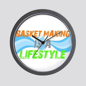Basket making is a liefstyle Wall Clock
