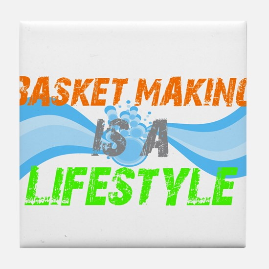 Basket making is a liefstyle Tile Coaster