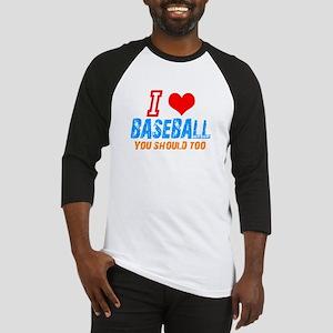 I love baseball Baseball Jersey