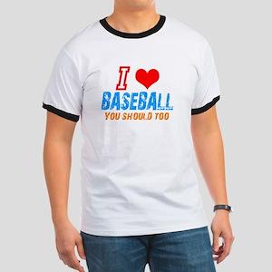 I love baseball Ringer T