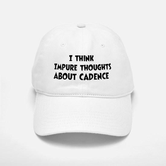 Cadence (impure thoughts} Baseball Baseball Cap