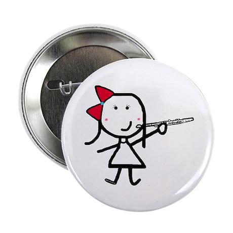 Girl & Flute Button