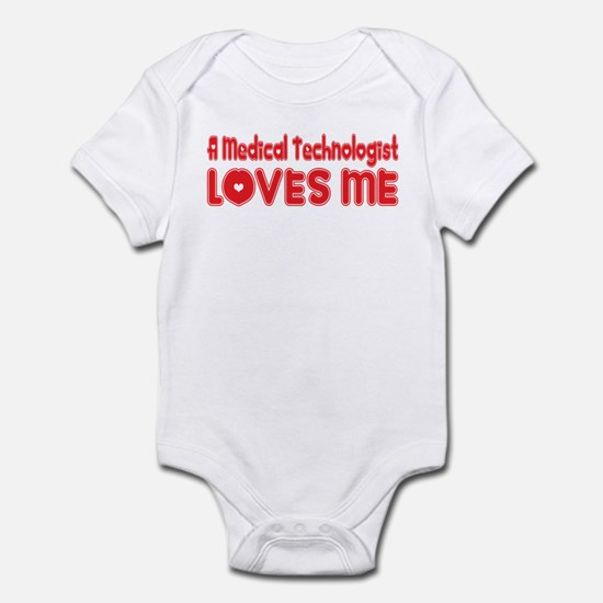 A Medical Technologist Loves Me Infant Bodysuit