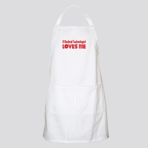 A Medical Technologist Loves Me BBQ Apron