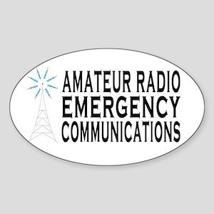 EM COMM Oval Sticker