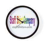 Staff Shirt Co Logo Wall Clock