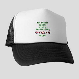 British Accent Avatar Trucker Hat