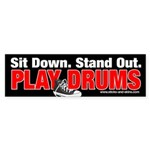 Play Drums Bumper Sticker