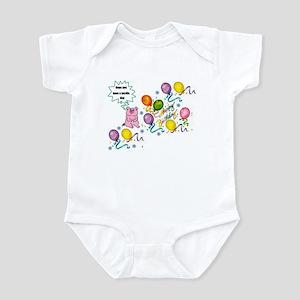 pig balloon birthday Infant Bodysuit