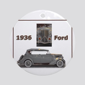 1936 Ford Elegance Ornament (Round)