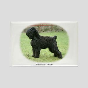 Russian Black Terrier Rectangle Magnet