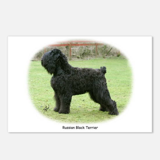 Russian Black Terrier Postcards (Package of 8)