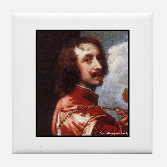"Faces ""van Dyck"" Tile Coaster"